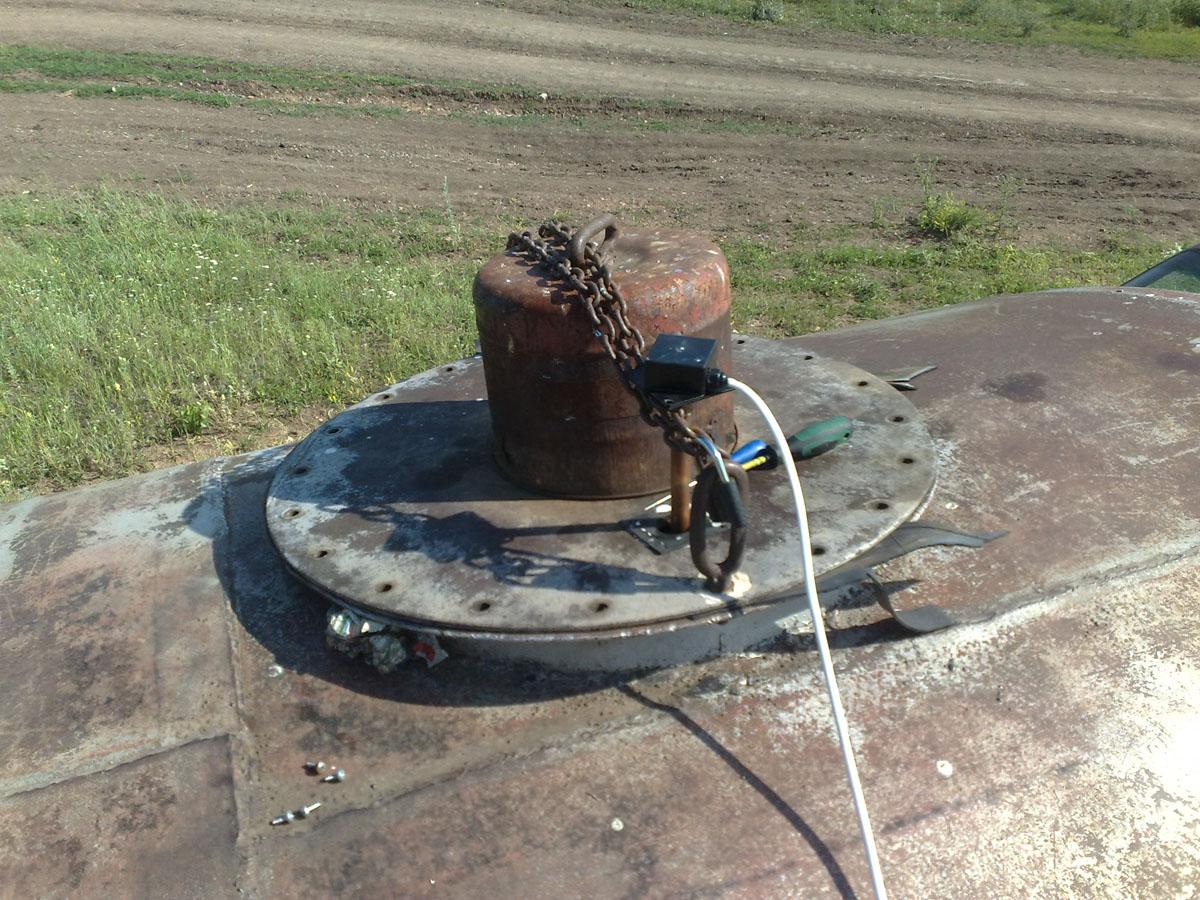 Установка системы мониторинга на 60 тонную емкость