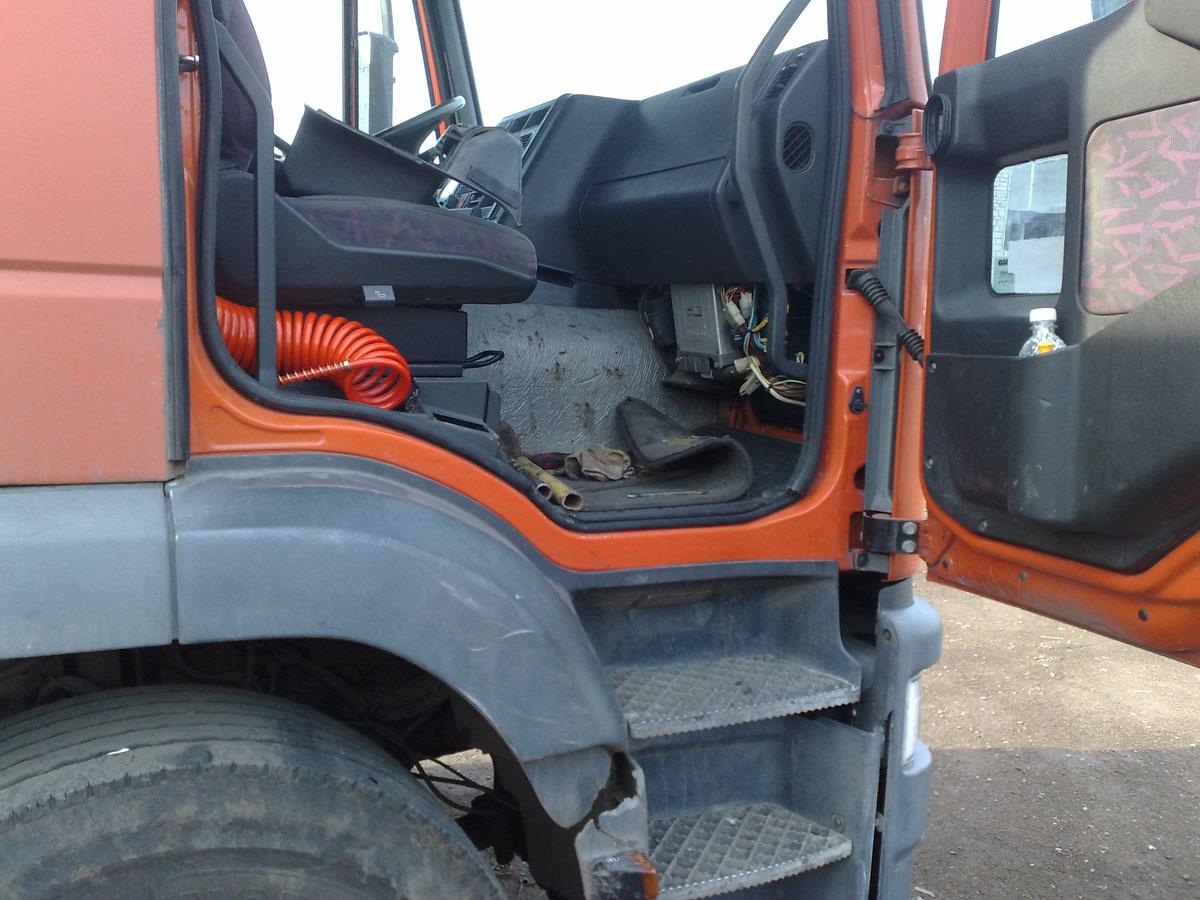 Установка системы мониторинга нагрузовик iveco